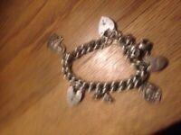 Silver charm bracellet