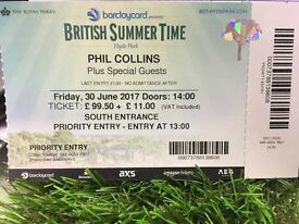 ** Phil Collins Tickets BST British Summer Time Festival **