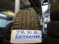 matching set of 235 50 18 BRIDGESTONES 6mm tread £40 FOR SET SUPP AND FITTD £150 FO SET opn 7dys