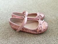 Girls pink sparkle party shoes