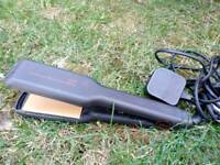 GHD wide plated V gold max styler