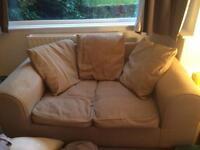 Light beige 2 seater sofa