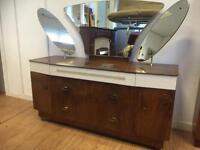 Vintage walnut dressing chest