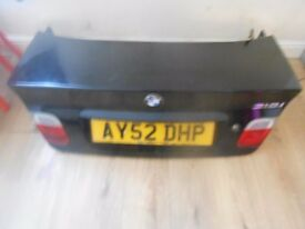 BMW E46 BOOT LID IN BLACK