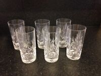Edinburgh crystal star of Edinburgh 6 x large tumbler glasses