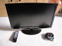 "Samsung 24"" HDTV and Blu-Ray SMART 3D DVD - VGC"