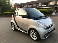 2014 (64 reg), Convertible Smart Fortwo 1.0 Grandstyle Plus Cabriolet Softouch 2dr