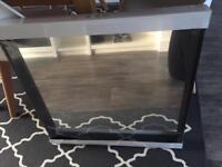 Black framed square mirror