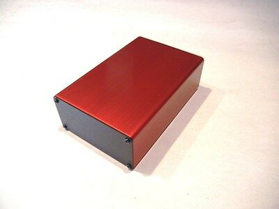 Aluminum Project Box Enclosure 2x4x6 Model Gk4-6 Red