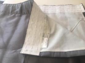 """Grey 72"""" lined curtains - new condition"""