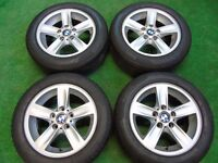 "BMW 1 3 SERIES 16"" ALLOY WHEELS WITH PIRELLI RUNFLAT TYRES 205/55R16"