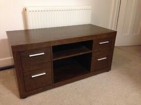 Walnut Tv unit with matching large sideboard