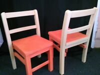 kids wooden chairs upcycled wood seats