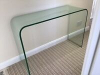 Marks and Spencer heavy glass console table