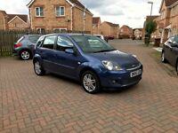 TOP SPEC FORD FIESTA GHIA, FULL BLACK LEATHER INTERIOR, AIR CON, ALLOY WHEELS, EXCELLENT DRIVE