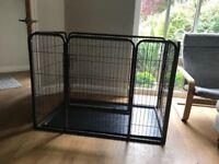 Heavy Duty 4 Piece Puppy Dog Play Pen Run Enclosure Welping Playpen with Floor
