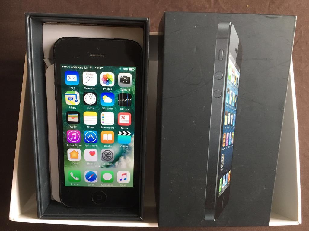 iPhone 5 Vodafone/ Lebara Excellent conditionin Milton Keynes, BuckinghamshireGumtree - iPhone 5 Vodafone network 16GB space grey Very good condition Box with chargerCan deliver £100