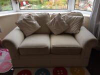 2 seater cream sofa Marks &Spencer