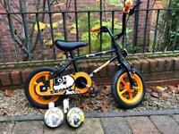 "Children's bike 12"". Sonic black & orange. New"