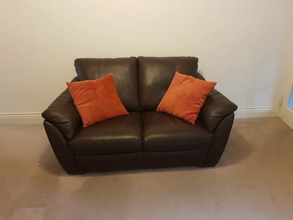 2-seat leather sofa - Ikea Alvros - excellent condition | in ...