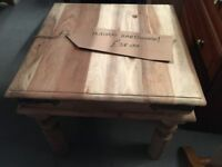 INDIAN HARDWOOD BLEACHED COFFEE TABLE £38.00