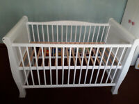 Used White Wooden Cot Bed