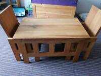£80 Kids oak Table and Chairs
