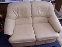 Leather two seater sofa-free to a good home