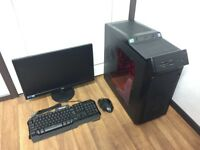 Gaming Computer PC, Complete Setup with 22 inch Monitor (Intel i5, 8GB, 1TB, R7 250 Graphics)