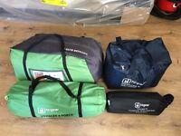 Voyager Elite 6 Tent, Porch, Ground sheet & Carpet (Camping Gear)