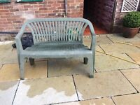 Plastic garden chair/bench FREE FREE