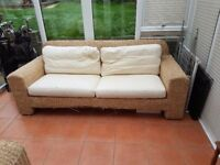 2 seater and sibgle conservatory seats