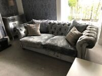 2x Large Chesterfield Sofas