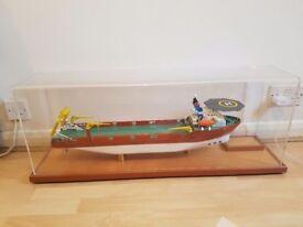 Rare hand built wooden cargo freiter boat