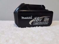 MAKITA 18v LXT LI-ION BL1830 (3AH) battery, perfect working order,(USED) ,dewalt bosch hitachi