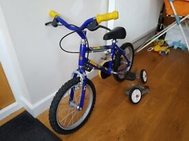 "Kids Ollie 14"" Bike (Children Kids Boys Child Bicycle)"
