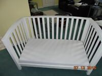 Mamas And Papas Cot/Bed (3 sides) With Mattress.