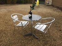 Cafe style table and chairs £50