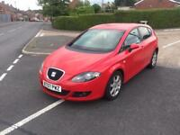 seat leon 2.0 tdi dsg automastic red top spec leather seats (not st fr msport )