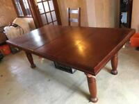 Slate bed snooker/pool dining table