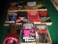 Stephen king softcover books $1 each or $10 for the lot