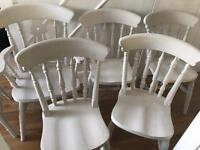 Refurbished Solid Pine Six Chairs (Can Deliver)