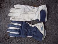 motorcycleleather racing type gloves made by Frank Thomas