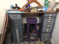 Gorgeous vintage 70s office cabinet desk