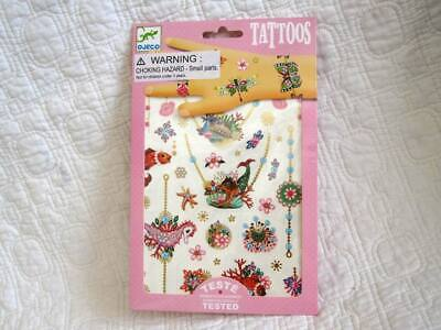 Fairy Dress For Kids (Temporary Tattoos for Kids Fairy Floral Style by Djeco French Brand, Dress)
