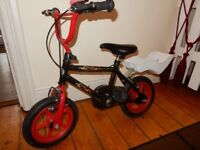 Red Kids Bike Bicycle with Rubber Tyres Boy or Girl Small 2 - 3 years onwards