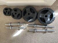 55kg Cast Iron Dumbbell Set