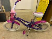 Girls bike age 3 -9