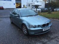 [Simmons BMW] 2002 BMW E46 3 series 316Ti Compact Green BREAKING for PARTS SPARES N42B18