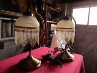 Pair of elegant side lamps